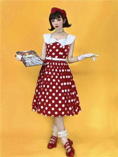Soufflesong~The Four Sisters, Miss Demon ~Hepburn Vintage Lolita OP