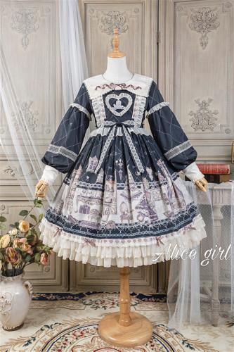 Alice Girl ~Angel Print 2.0 Girl's Room Lolita OP -Pre-order