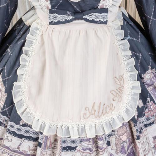 Alice Girl ~Angel Print 2.0 Girl's Room Lolita Apron Lolita Accessories -Pre-order