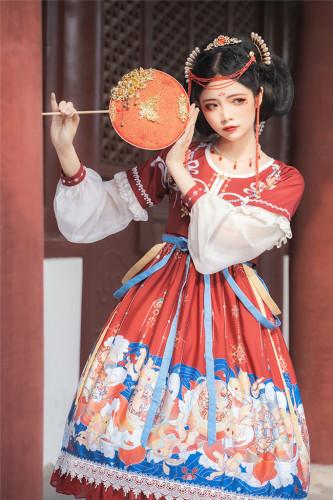Shuihuayoulin~ Qi Lolita JSK Set-Ready Made