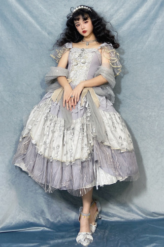 LingXi Lolita ~Moonwaves Classic Vintage Lolita JSK -Pre-order