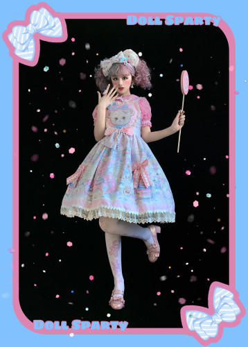 The Rainbow Circus~ Sweet Lolita JSK /Salopette-Ready Made