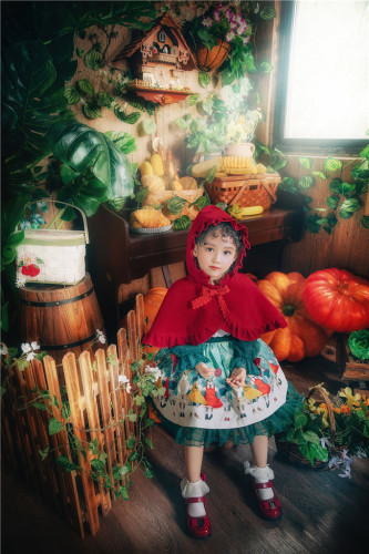 Rabbit Kingdom~Lolita Hooded Cloak For Kids-Pre-order