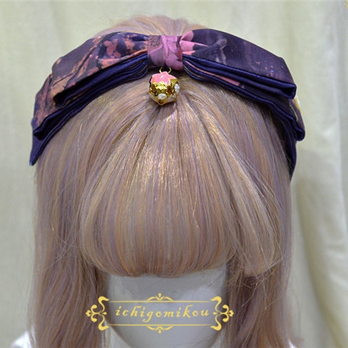Ichigomikou Night Sakura Krathong Lolita Accessories -Pre-order