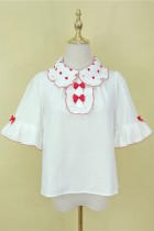 Little Dipper ~Bobo Milk Tea Lolita Blouse- Pre-order