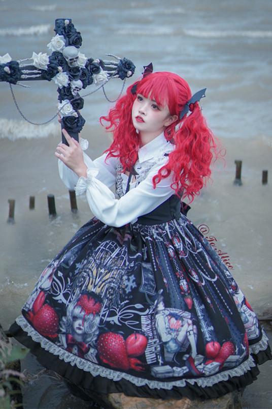 Tommy Bear ~Strawberry Vampire Lolita JSK