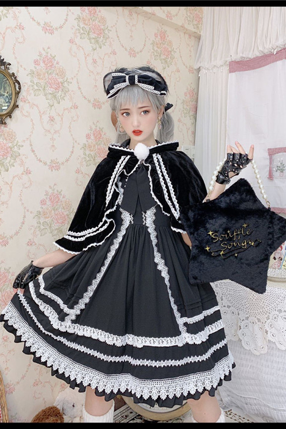Antique Dolls ~Lolita High Waist JSK + Cape
