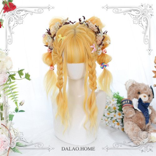 Dalao Home ~Sunflowers Lolita Long Curly Wigs