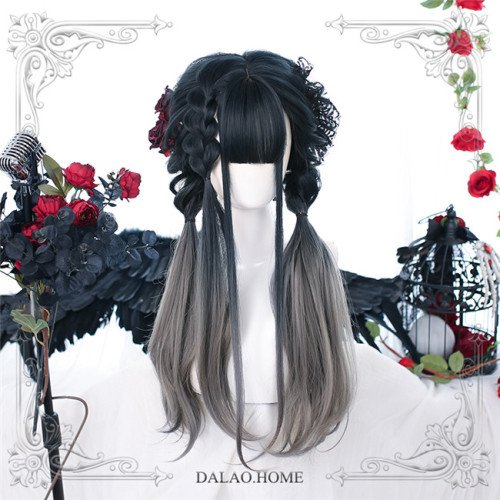 Dalao Home ~Canglan Lolita Long Curly Wigs