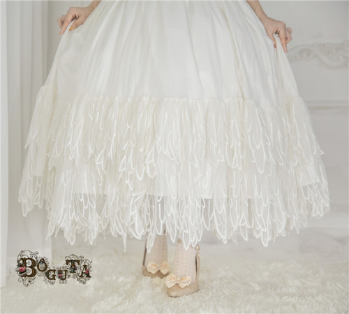 Boguta Lolita~ Fairy Feather Lolita Petticoat/Skirt-Pre-order