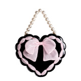 Lovely Lota~ Little Valentine Love Bow Pearl Lolita Bag
