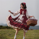 With PUJI ~Little Red Riding Hood Lolita OP/Cape