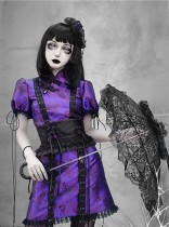 Blood ~Purple Butterfly Dream Lolita OP