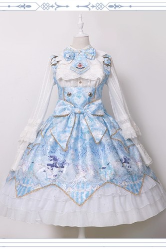 Night of Unicorn ~Vintage Corset Lolita Blouse