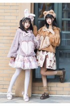 Honey Machine ~Bear Hug Sweet Bunny~ Lolita Winter Coat