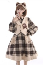 To Alice~ Detective Bear~Lolita OP/ Vest -Pre-order