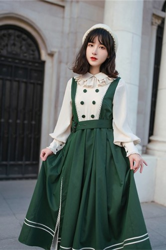 With PUJI ~Jingjing Old School Dress-Pre-order