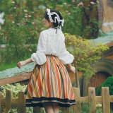 With PUJI ~Huasha Weekend Lolita SK Set-Ready made
