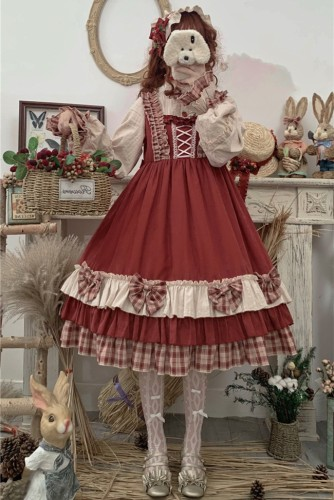 Annie Parcel ~Berry Maiden~Little Red Riding Hood Lolita OP