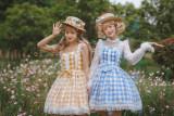 Miss Point ~Summer of Daisy Gingham Sweet lolita JSK - In Stock  Bust-115cm waist-96cm length-88cm