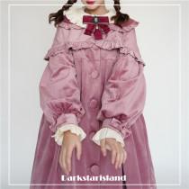 Dark Star Island~ Lolita Antique Velvet Long Coat- Pre-order