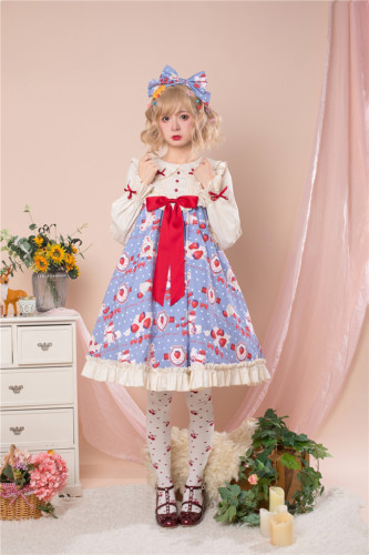 Annie Parcel ~Strawberry Milk Jug Lolita OP