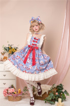 Annie Parcel ~Strawberry Milk Jug Lolita JSK