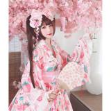 Diamond Honey ~Cherry Strawberry~ 2020 Lolita Top+Skirt Yukata Set