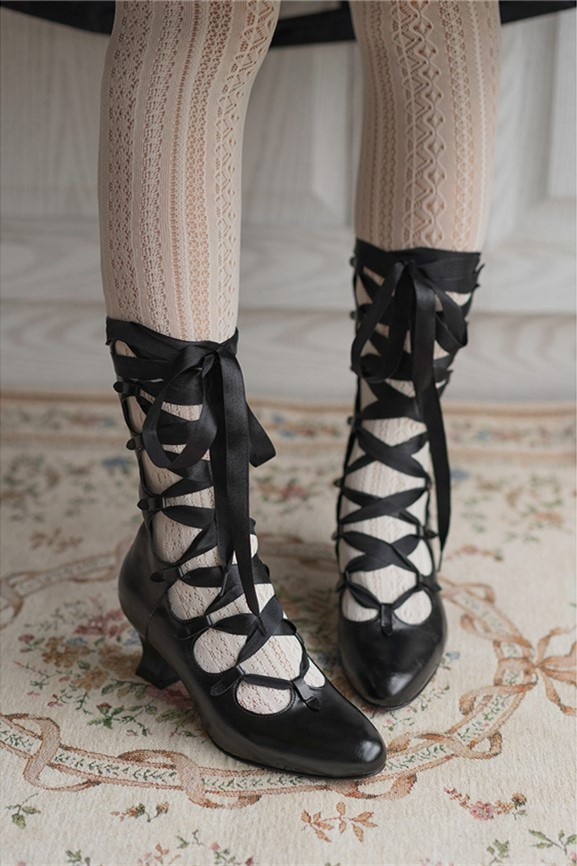 Lolita Retro Straps Boots-Pre-order