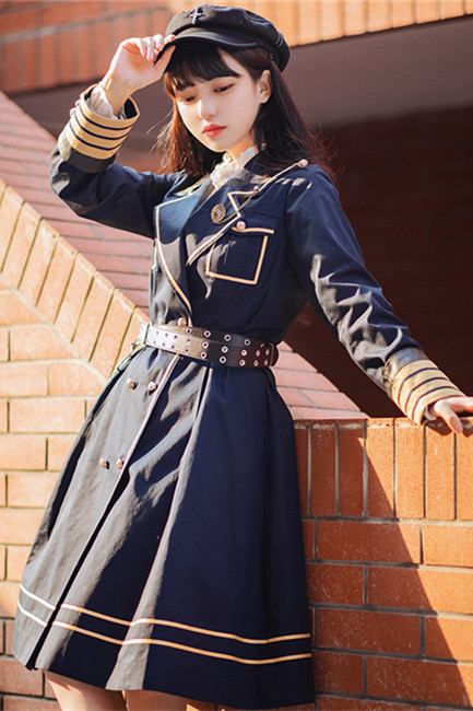 With PUJI ~Military Uniform College Style Lolita OP