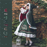 With PUJI ~Wish Bell Lolita Winter OP/ Cape - OP Size S & L - In Stock