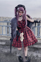 Diamond Honey ~Pink Hot Girl Rock Singer~ Lolita Autumn and Winter Inner JSK