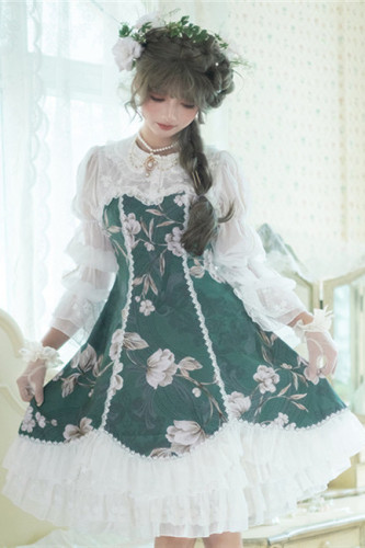Doris Night ~Vintage Lace Cotton Lolita OP -Pre-order