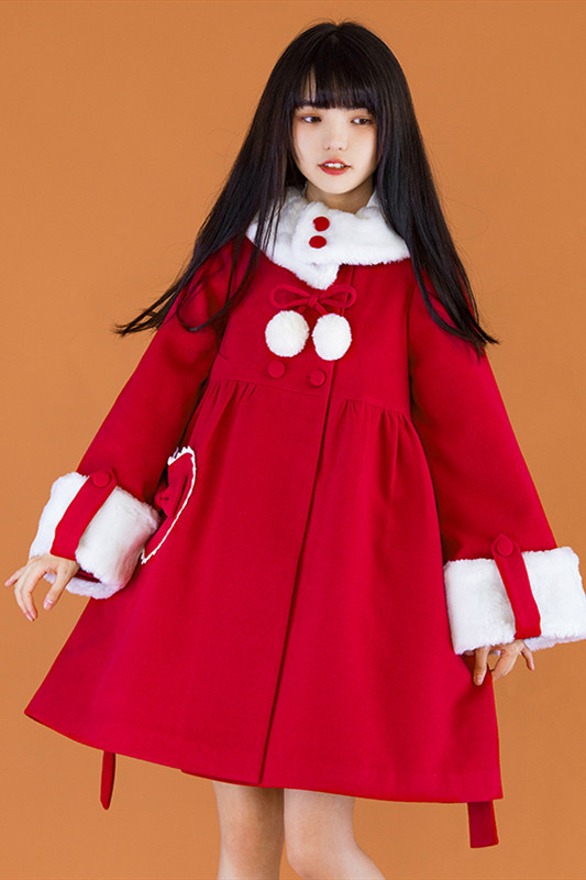 Withpuji Sweet Cotton-padded Lolita Long Coat -Pre-order
