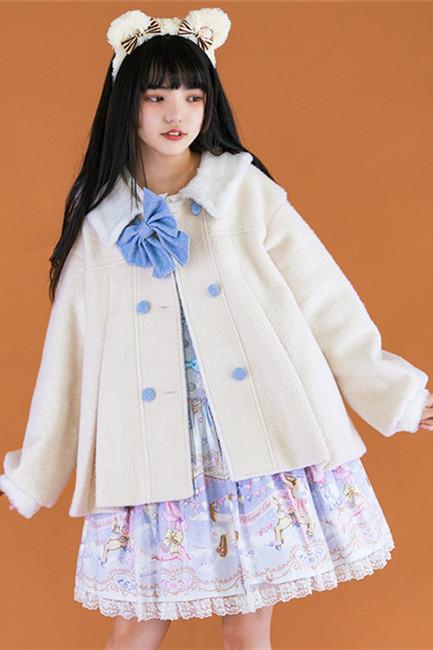 Withpuji  Sweet Puff Sleeves Lolita Short Coat