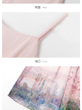 Monet Oil Painting~Dairywear Version Lolita Dailywear JSK/Overskirt -Ready Made Pink JSK Size L - In Stock