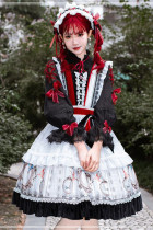 Sparrow In The Mirror Vintage Long Sleeves Lolita OP -Pre-order