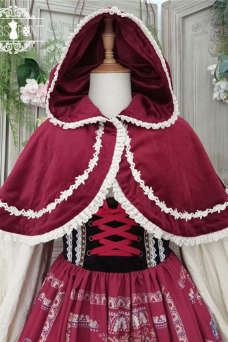 Miss Point ~The Song of Harvest Velvet Lolita Cape -Pre-order