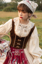 Miss Point ~The Song of Harvest Velvet Fishbone Lolita Vest -Pre-order