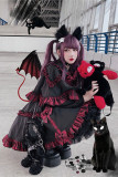 Diamond Honey ~Little Devil Lolita Cape + Skirt Set Size L - In Stock
