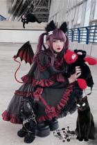 Diamond Honey ~Little Devil Lolita Cape + Skirt Set