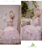 Miss Anne's Tea Party~Gorgeous Wedding Lolita OP-Ready MADE