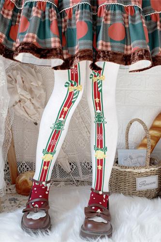 Merry Christmas Winter Lolita Above Knee Socks