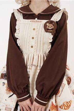 Vcastle ~Chocolate Lolita Long Sleeves Blouse-Pre-order