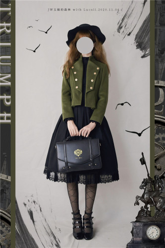 Triumphant Return Military Lolita Short Coat -Pre-order