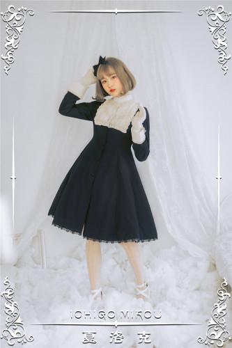 Ichigomikou Vintage Elegant Lolita Long Coat/OP -Pre-order