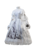 Keel Cemetery~ Gothic Lolita JSK/OP Dress - White OP Size XL - In Stock