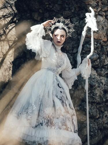 Keel Cemetery~ Gothic Lolita JSK/OP Dress - White OP Size XL - In Stock