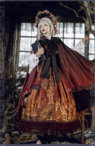 Keel Cemetery~ Gothic Lolita Cape - Wine In Stock