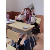 Diamond Honey Edge Goth Sailor Uniform Top + Skirt Set
